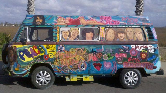 hippie vw vans yahoo image search results mariage volkswagen pinterest volkswagen. Black Bedroom Furniture Sets. Home Design Ideas