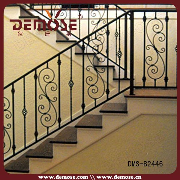 Source Residential Wrought Iron Stair Railing X2F Balustrade | Ladder Railing Design Iron | Balcony | Wrought Iron | Railing Ideas | Metal | Baluster