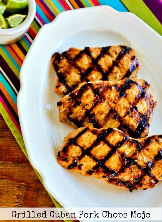 Grilled Cuban Pork Chops Mojo