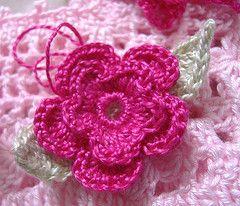 Como Tejer Bufandas a Crochet | crochet rehilete flor tipo rehilete tejida con ganchillo crochet ...