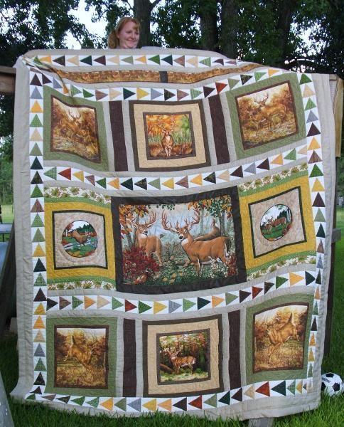 Deer Quilt project on Craftsy.com | Quilts | Pinterest : deer quilt patterns - Adamdwight.com