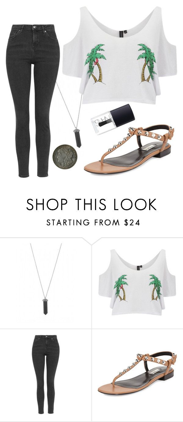 """""""Untitled #1251"""" by moria801 ❤ liked on Polyvore featuring Karen Kane, South Beach, Topshop, Balenciaga and NARS Cosmetics"""