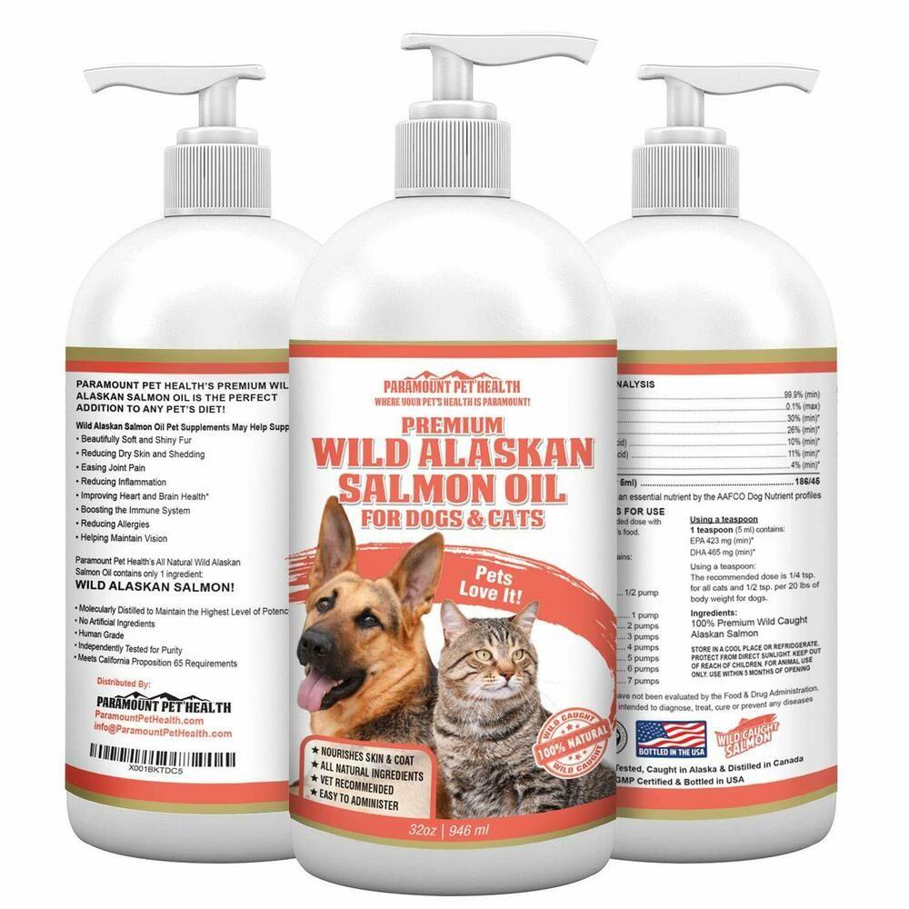 Wild Alaskan Salmon Oil For Dogs And Cats Premium Salmon Oil