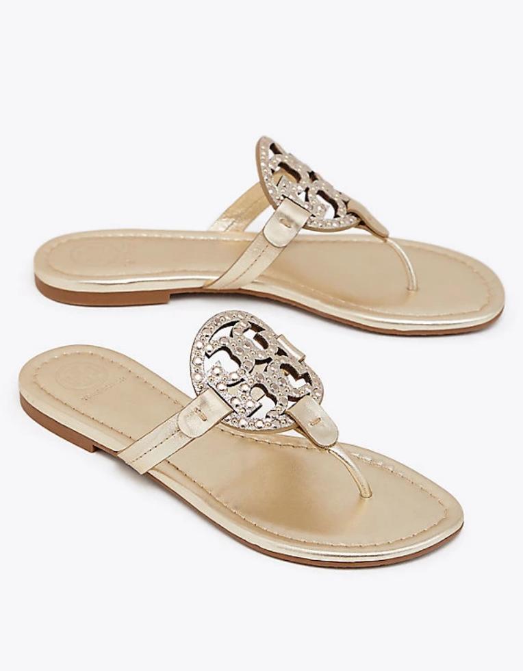 9d7f1e5307fc14 Tory Burch Miller Embellished Sandal