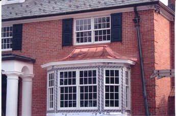Standing Seam Copper Bay Window Metal Copper Roofing Is Rapidly House Exterior Bay Window Copper Roof