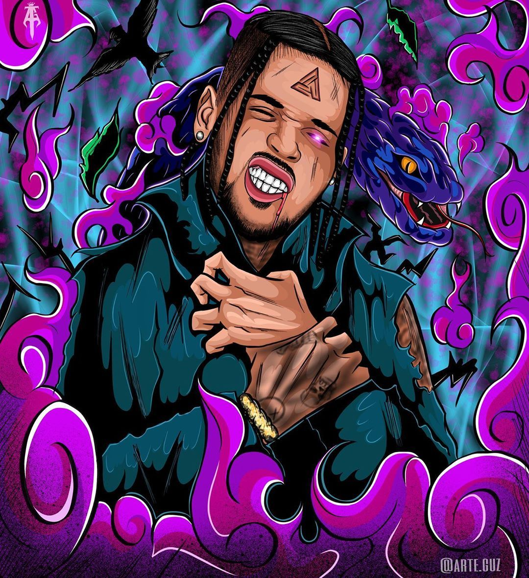 Chris Brown Indigo Season Chris Brown Drawing Chris Brown Art Chris Brown Tattoo