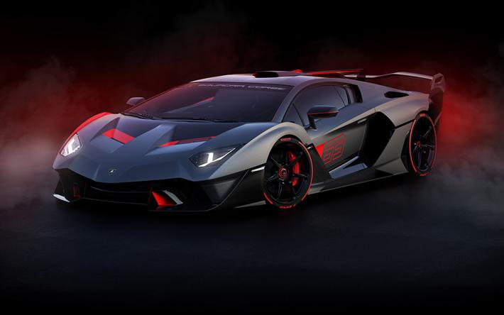 Download wallpapers 2019, Lamborghini SC18, front view