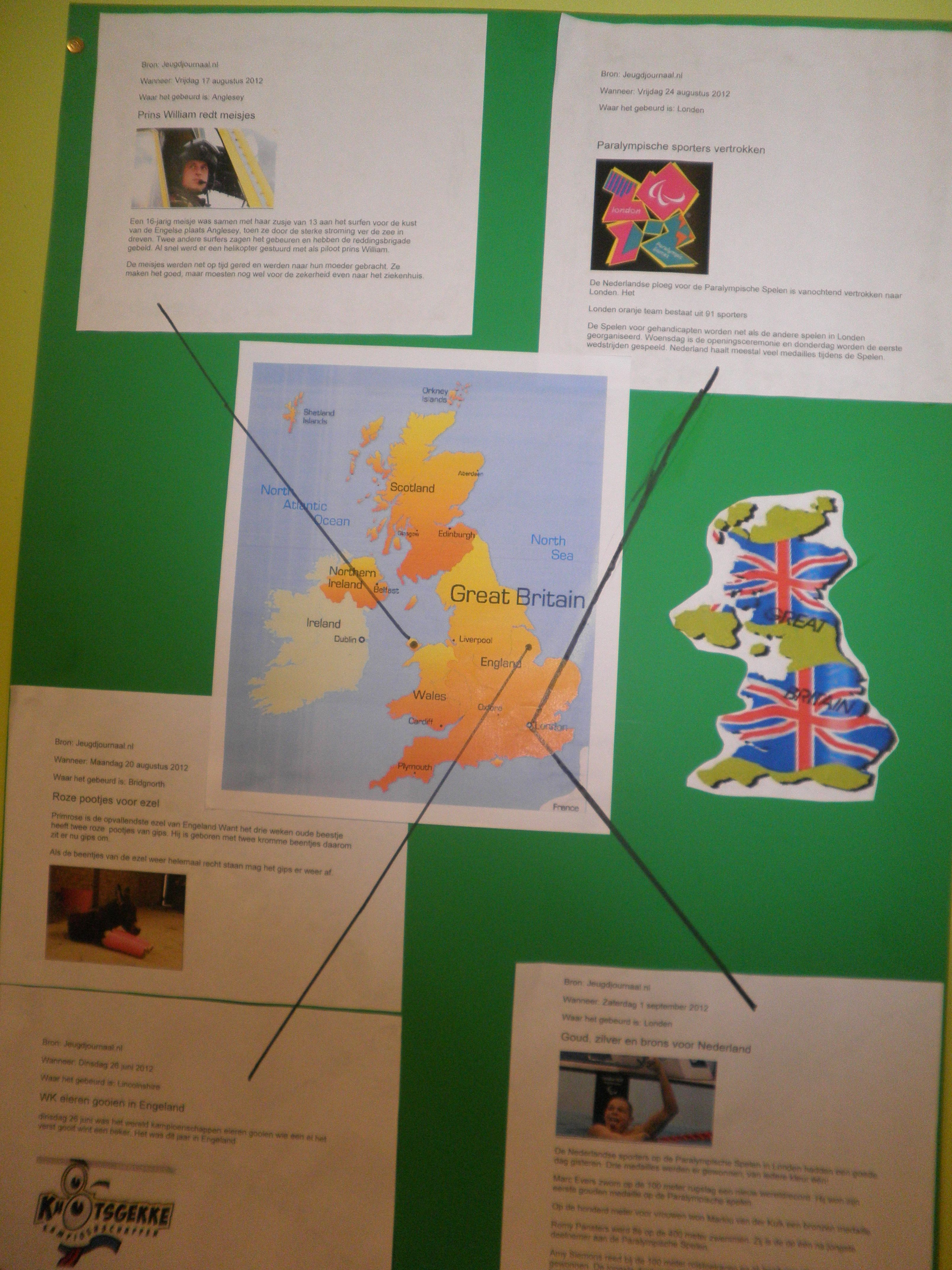 Spiksplinternieuw Muurkrant (met afbeeldingen)   Aardrijkskunde, Europa, Projecten ZA-63