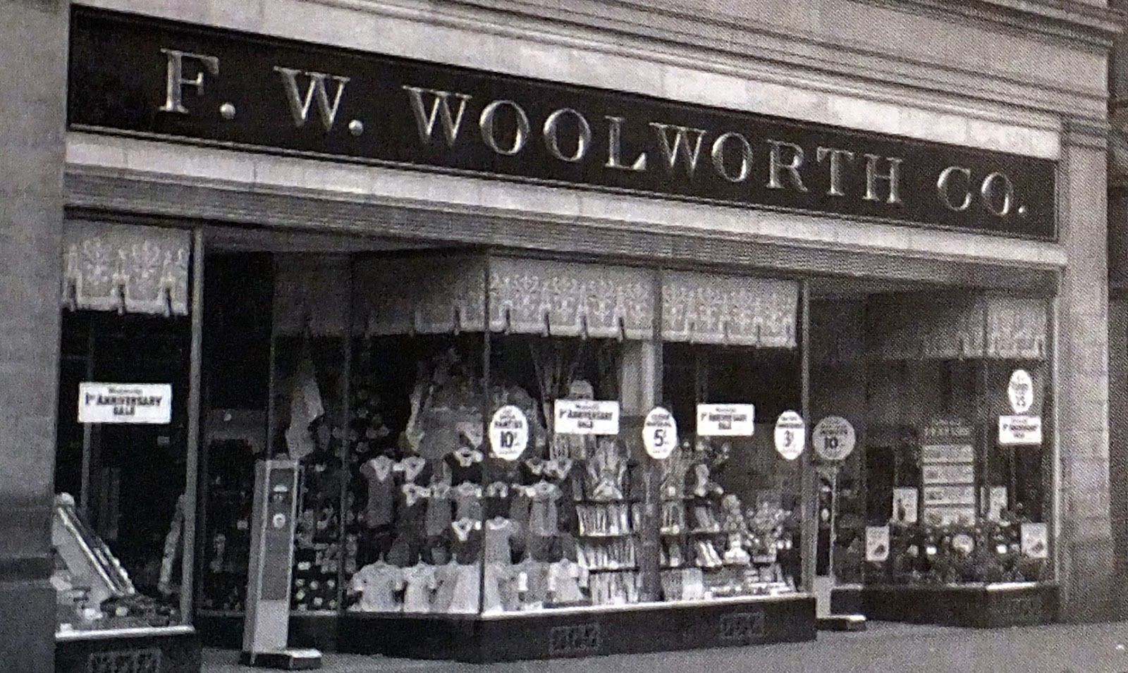F W  Woolworth- nothing was better than walking downtown