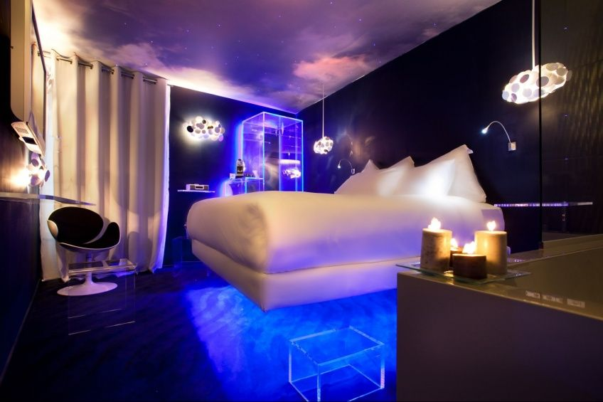 Suspended Bath Room Elegancia Hotel Cool Lights For Bedroom Neon Room Decor Neon Bedroom