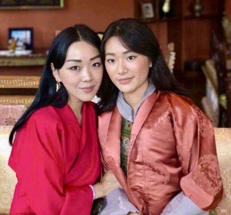 Sonam Dechen Wangchuck Left And Her God Daughter Yiga