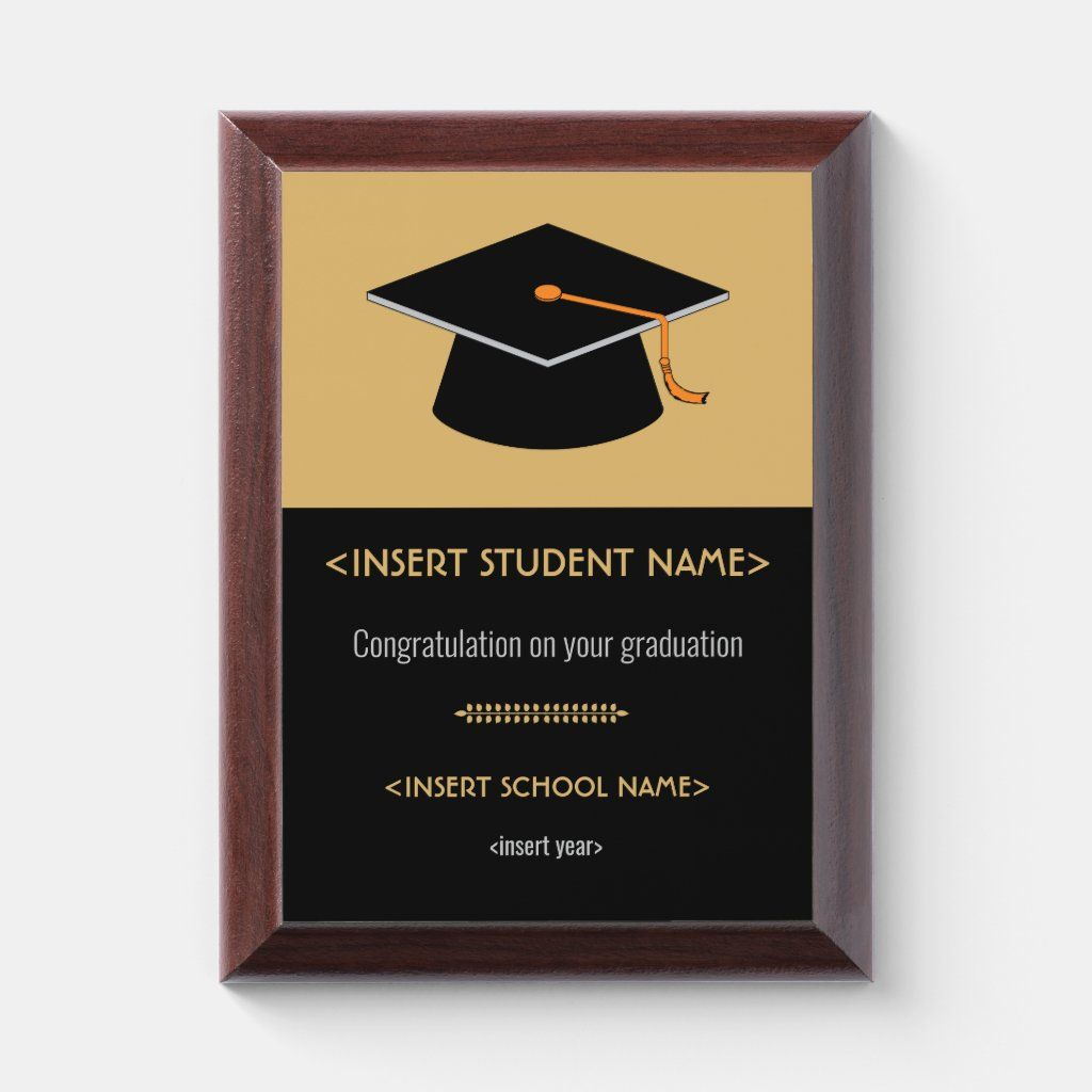Award Plaque in quiet colours to be used with the occasion of school graduation. It is designed for you by zigzagcolours on www.zazzle.com. Best buy