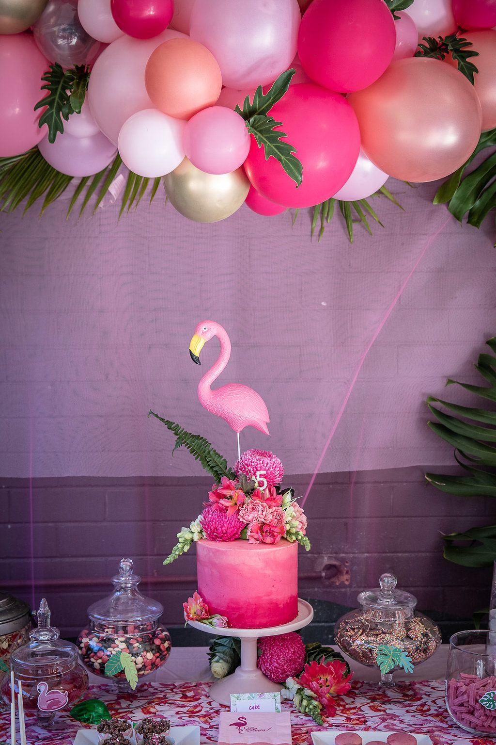 Amelias glam flamingo birthday party confetti fair