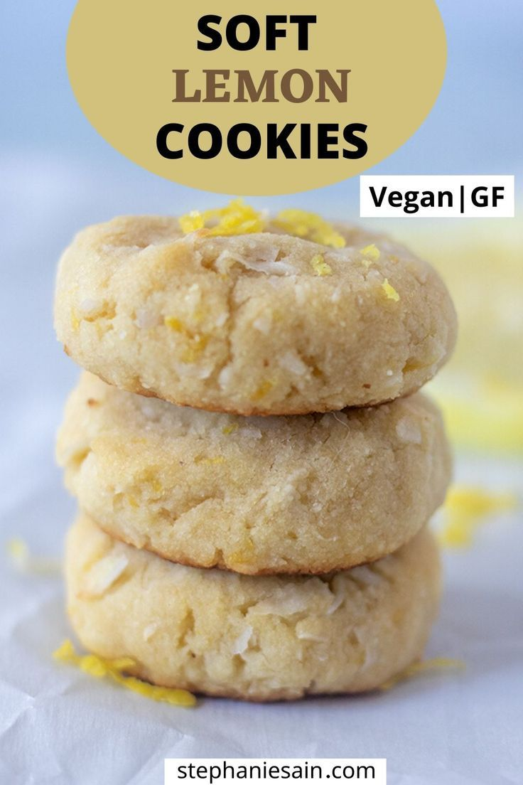 Lemon Cookies Recipe (Vegan, Gluten Free)