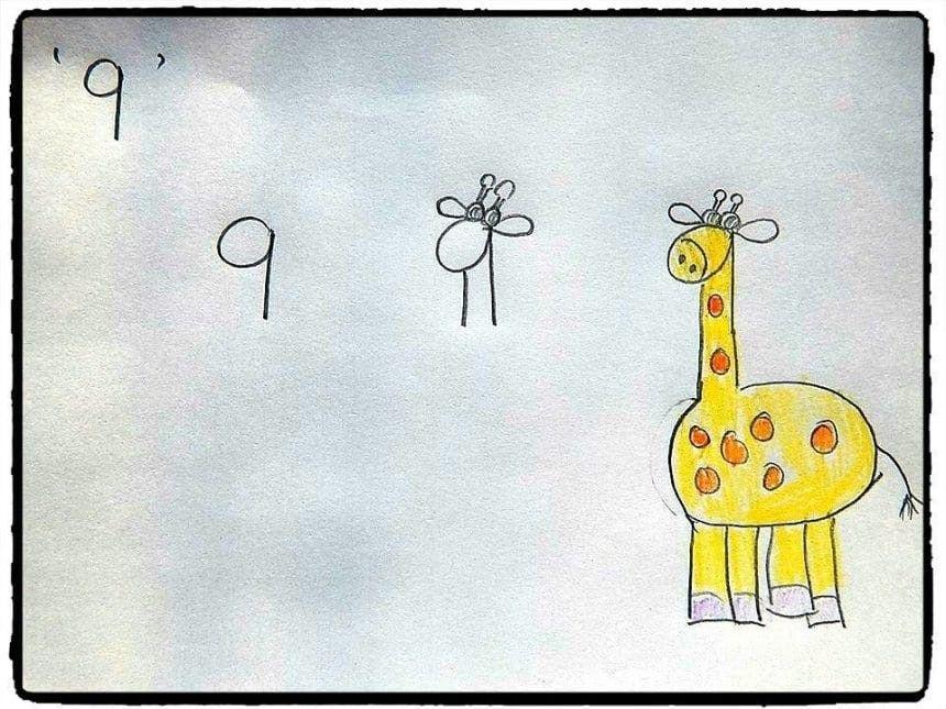 27 Ide Cara Menggambar Hewan Dimulai Dengan Huruf Dan Angka Cara Menggambar Gambar Hewan Jerapah