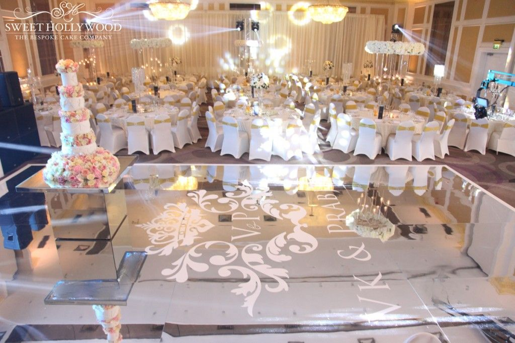 Luxury Wedding Cakes In London Mirrored Cake Table Dance Floor Grand