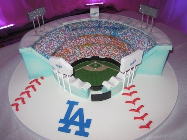 Dodgers Birthday Cake