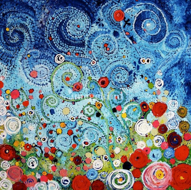 """Zinnias Before the Storm,"" by Starla Halfmann, Austin TX"
