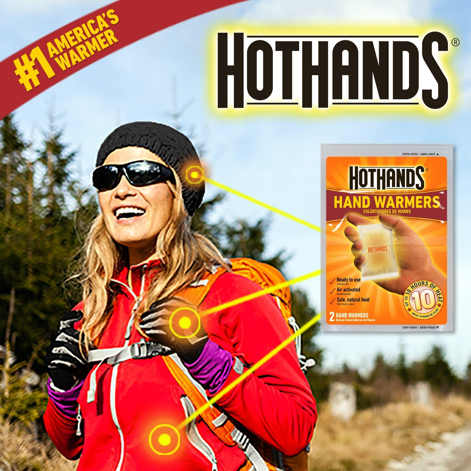 HotHands Body /& Hand Super Warmers Long Lasting Safe Natural Odorless Air Up