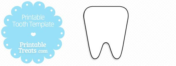 Free Printable Tooth Template Tooth Template Templates