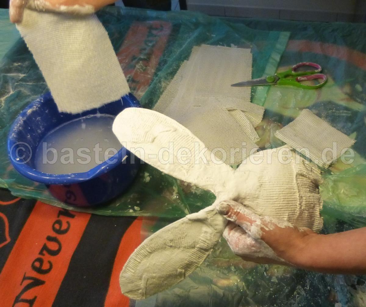bastelanleitung hase aus holz und gips | ostern, basteln, Moderne