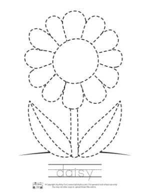 Spring Tracing Coloring Pages Preschool coloring pages