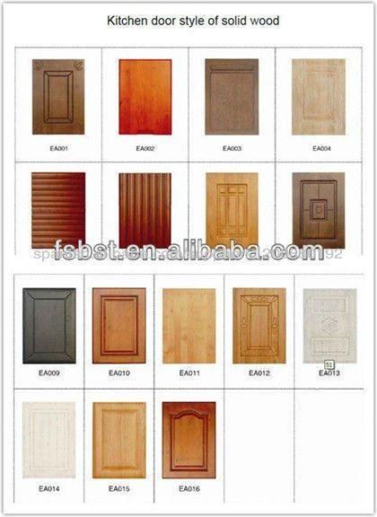 Gabinete de cocina de madera en dise o de moda para la for Modelos de puertas de madera para cocina integral