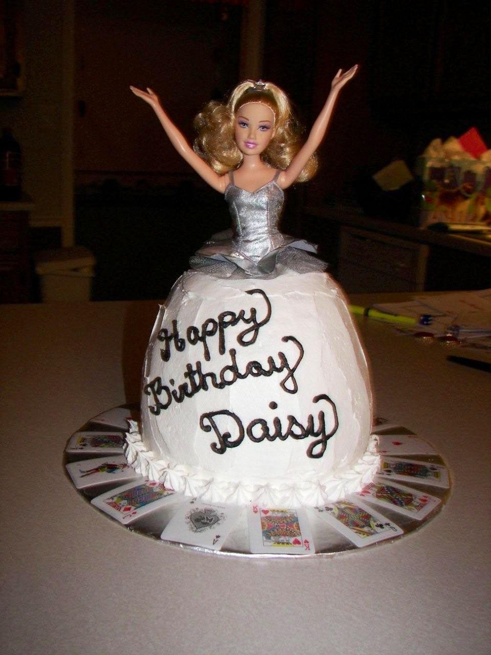 Barbie Birthday Cake With Vegas Theme Peaceloveflour