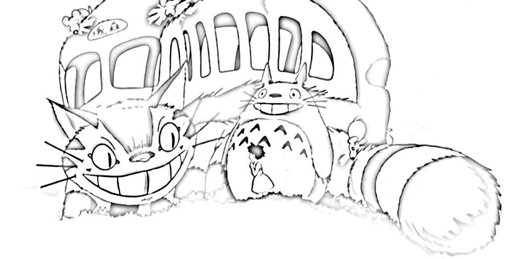 Catbus Coloring Page Coloring Pages Cartoon Coloring Pages Designs Coloring Books