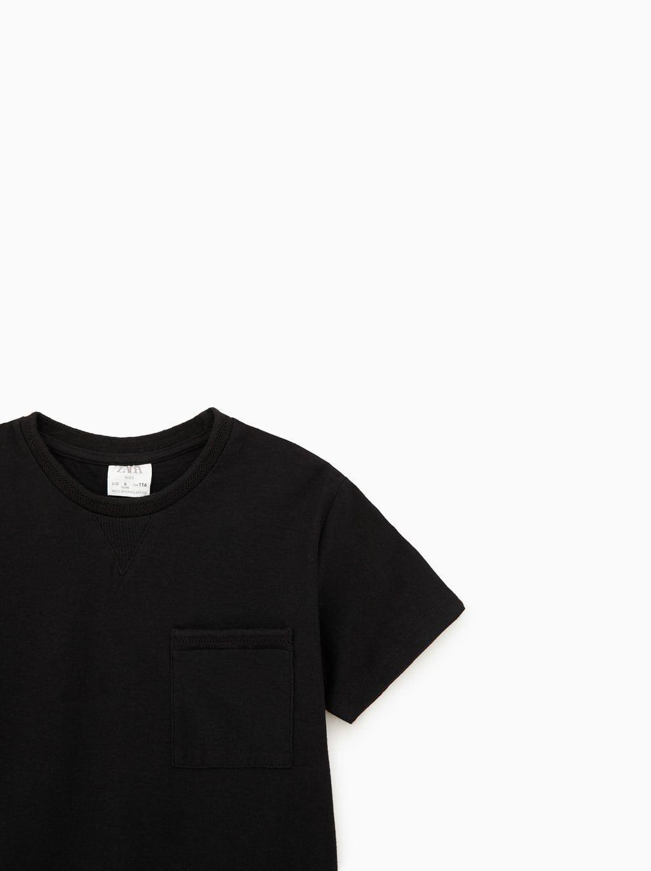 zara plain black t shirt
