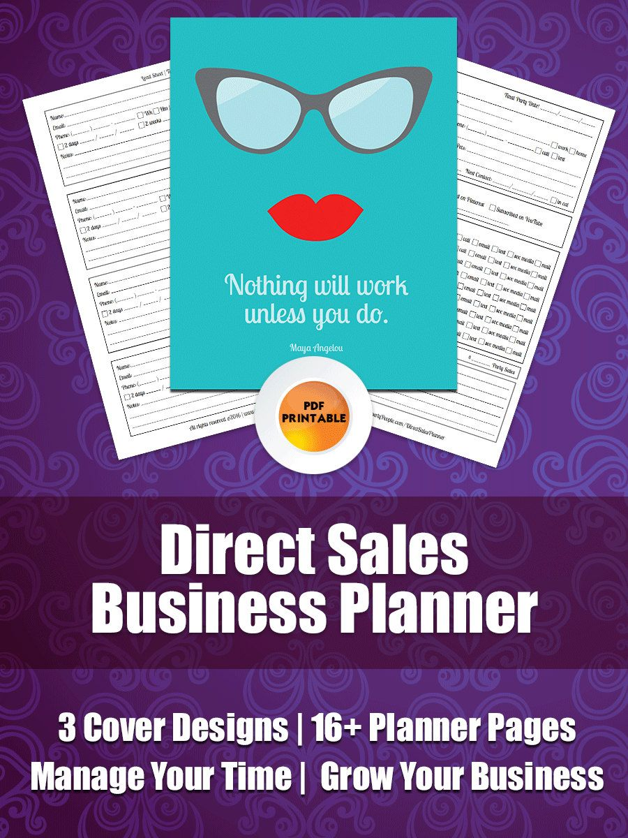 Direct Sales Business Planner for Network Marketing, Party