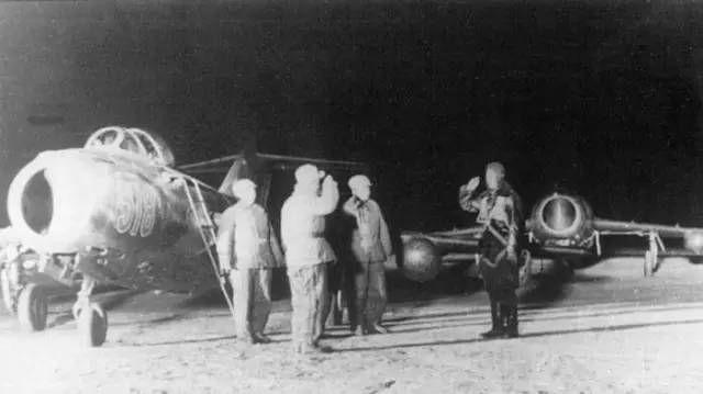 North korean Mig15 at the beginning of war in Korea.