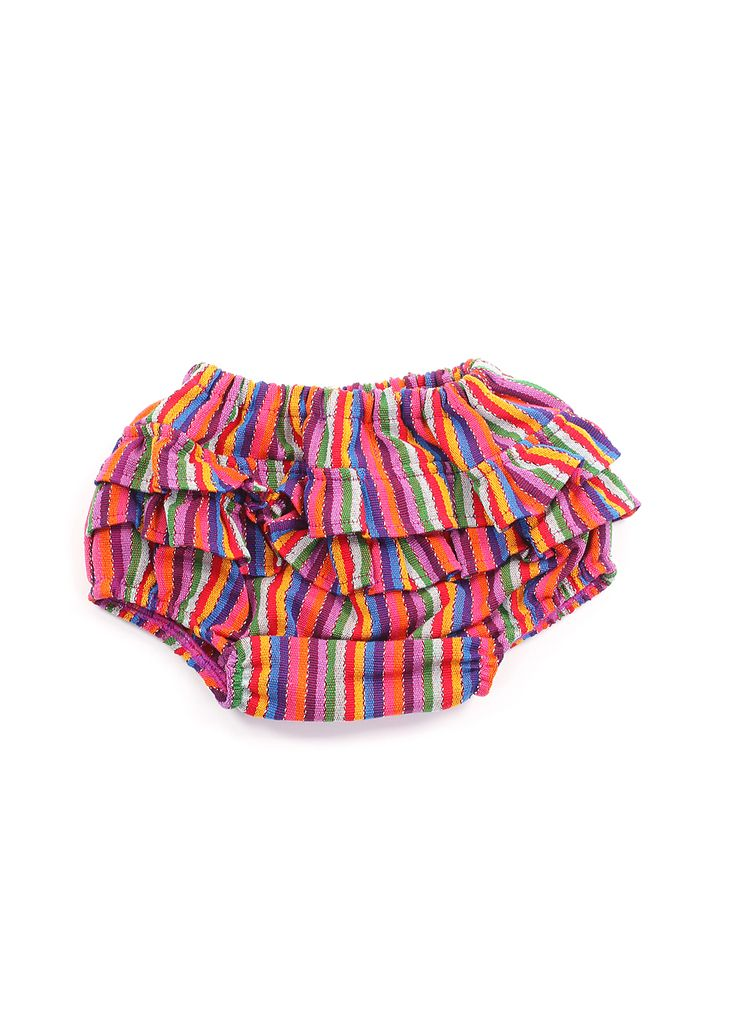 Selena Ruffle Bloomer Circus Stripes