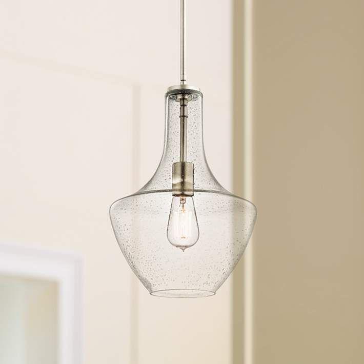 "Kichler Everly 10 1/2"" Wide Brushed Nickel Pendant Light - #6J570 | Lamps Plus"
