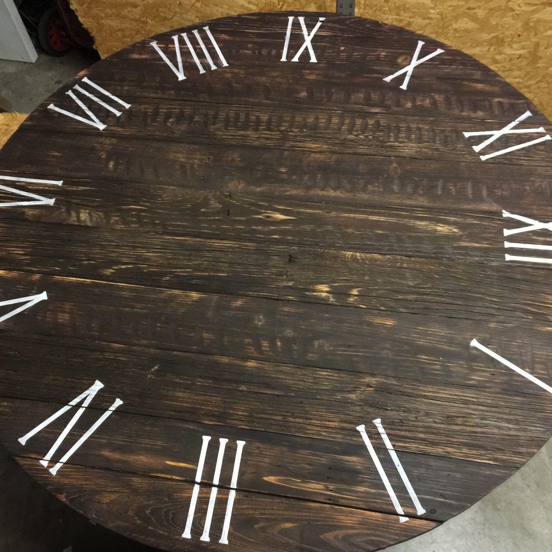 Large Wall Clock Wall Clock Rustic Wall Clock Wooden Wall Clock Unique Wall Clock Barn Wood Clock Handmade Wall Clock Round Clock Handmade Wall Clocks Rustic Wall Clocks Wood Clocks