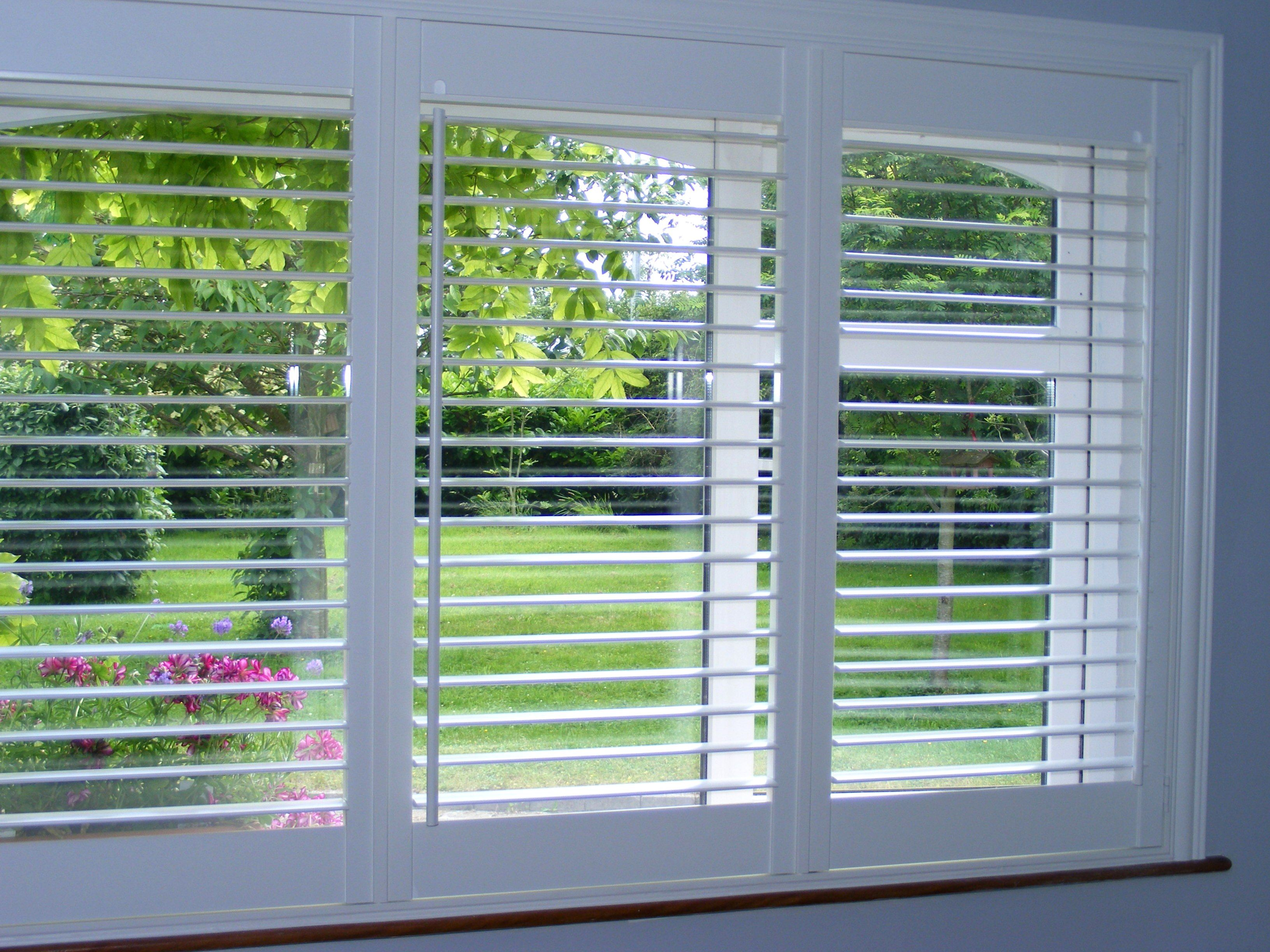 3 Panel Plantation Shutters In Silk White Supplied And Fit By