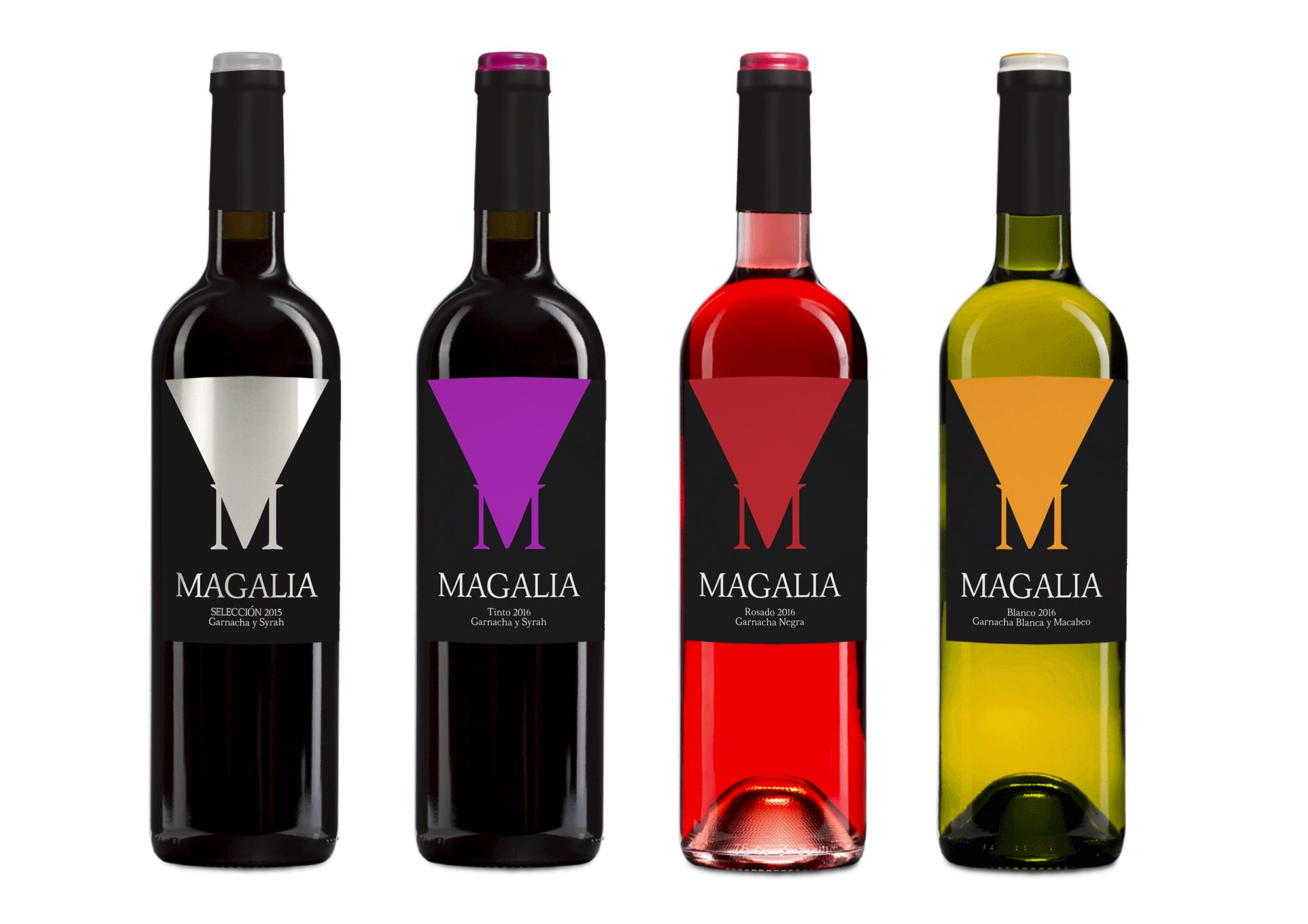 Diseno De Etiqueta Para Vino Tinto Rosado Blanco Y Seleccion De La Cooperativa De Maella Bajo La Marca Ma Etiquetas De Vino Disenos De Unas Diseno Etiquetas