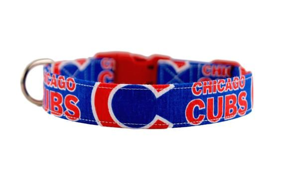 new product 9ac6c f5b29 MLB Chicago Cubs Collar, Cubs Dog Collar, Personalized ...