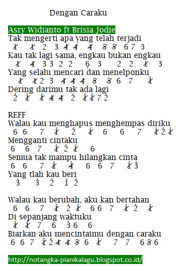 Image Result For Not Pianika Dengan Caraku Surat Cinta Lirik Lagu Not Musik