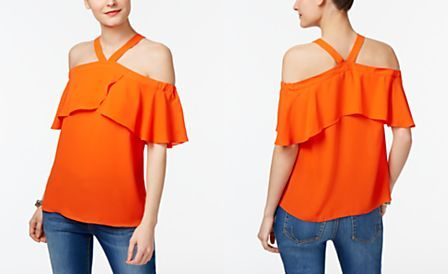 ba9643798acbd INC International Concepts Cold-Shoulder Top