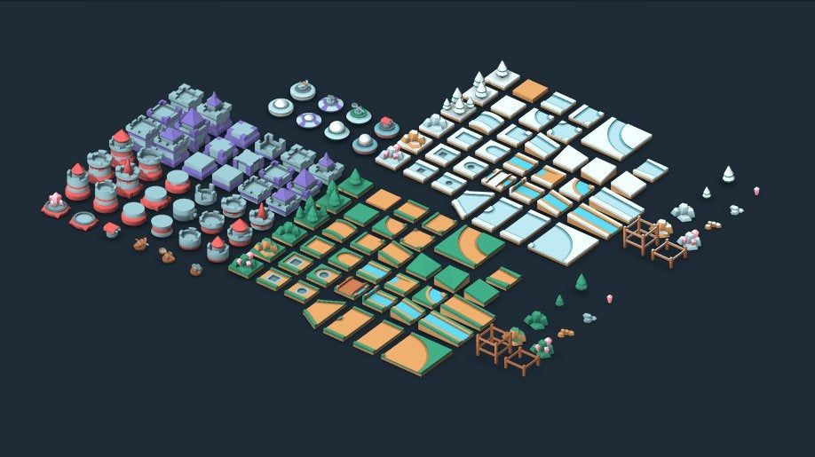 Tower Defense Kit 140 Including 3d Models And 2d Isometric