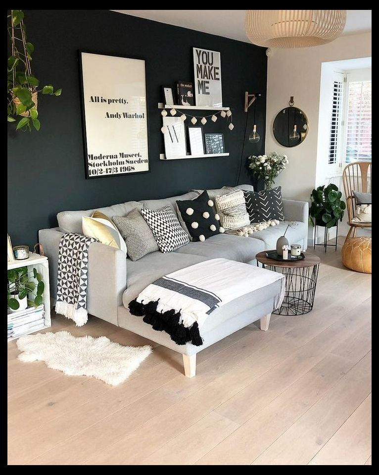 57 Grey Small Living Room Apartment Designs To Look Amazing 29 Small Small Apartment Living Room Simple Living Room Small Apartment Decorating Living Room