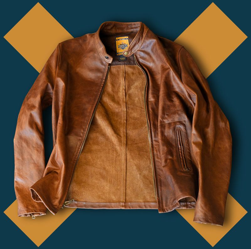 6d946600a Schott 571 cafe racer, unlined heavy oiled and waxed pullup cowhide ...