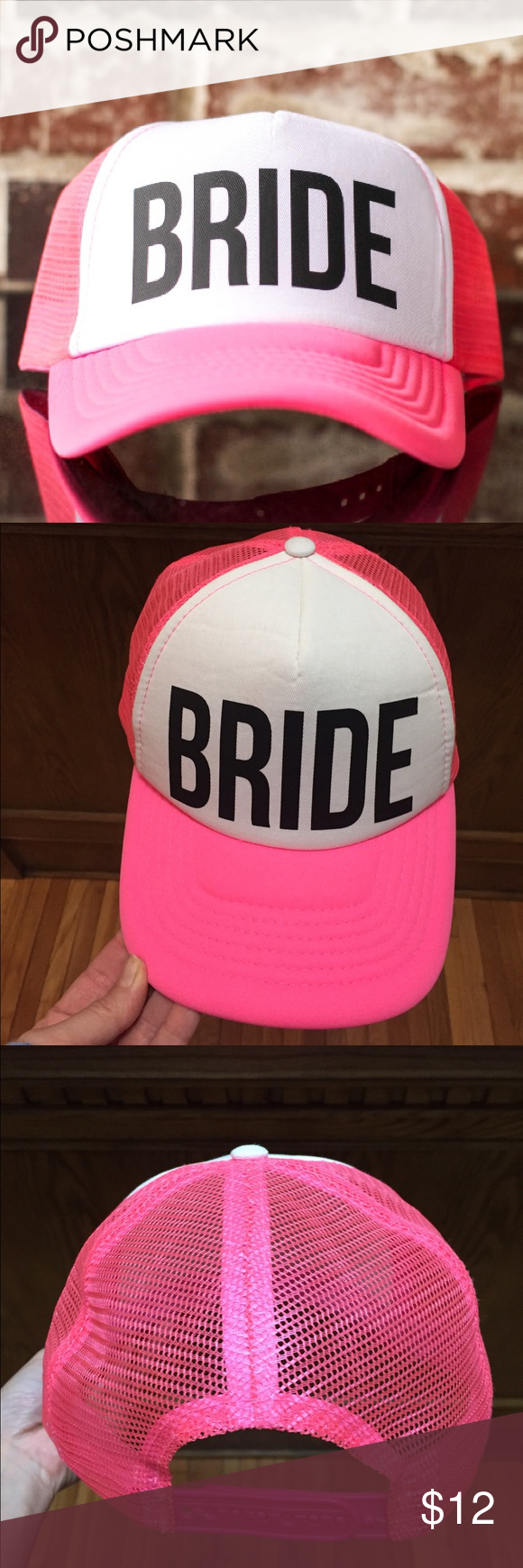 """Bride"" Trucker Hat in Hot Pink Bride trucker hat worn on my bachelorette Etsy Accessories Hats"