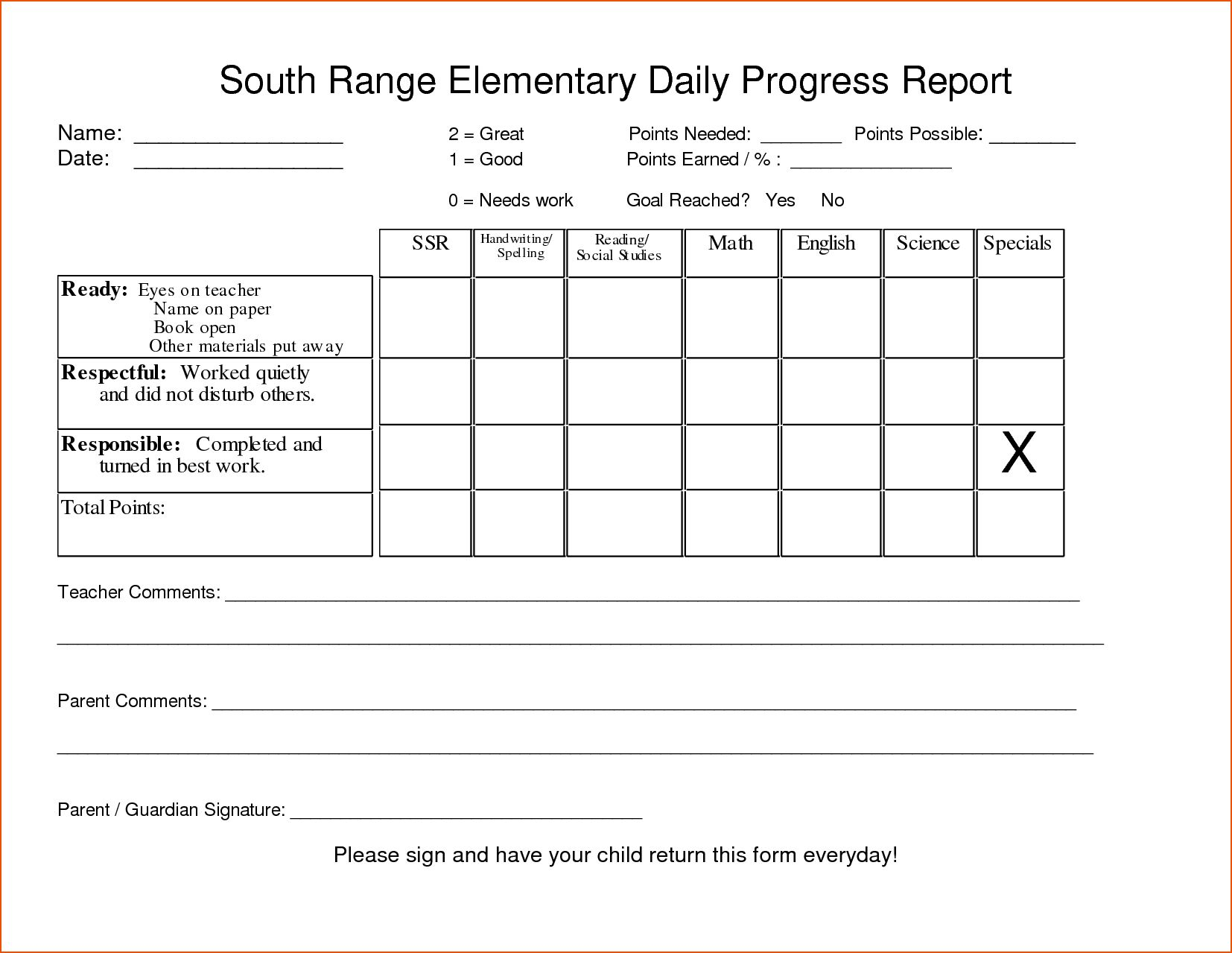 26 Images Of Student Daily Behavior Progress Report Template Regarding Daily Behavior Report Template Progress Report Template Daily Progress Progress Report