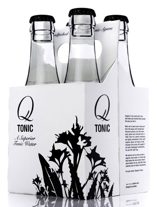 Q Tonic.  Organic. Agave Nectar.  25 calories a serving.  Add gin or vodka plus lime and it's practically a health beverage