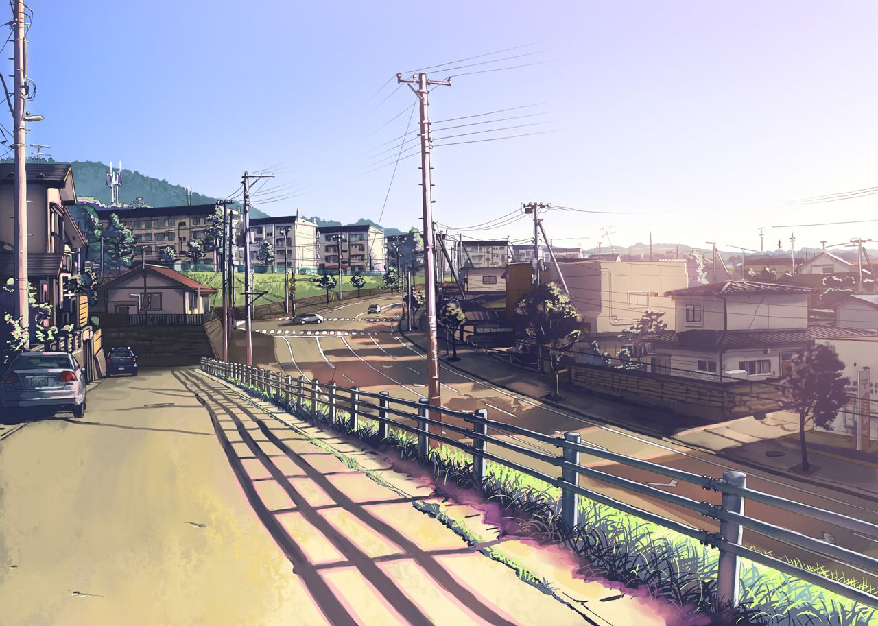 anime city scenery wallpaper fondos pinterest