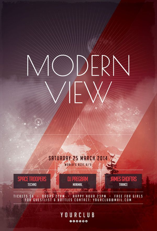 Modern view flyer psd templates template and flyer design templates for Modern flyers template