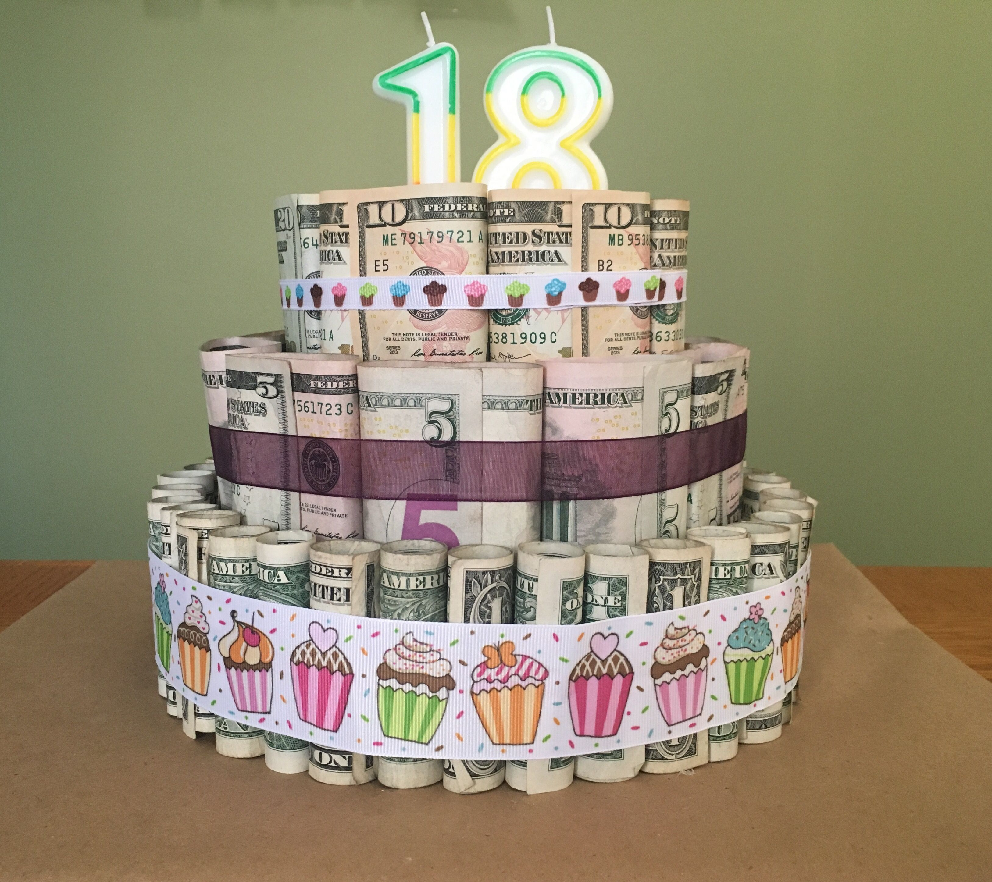 18th birthday money cake but could be adapted for any occasion