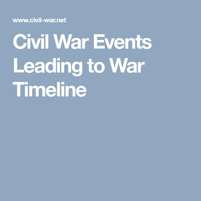 Civil War Events Leading To War Timeline